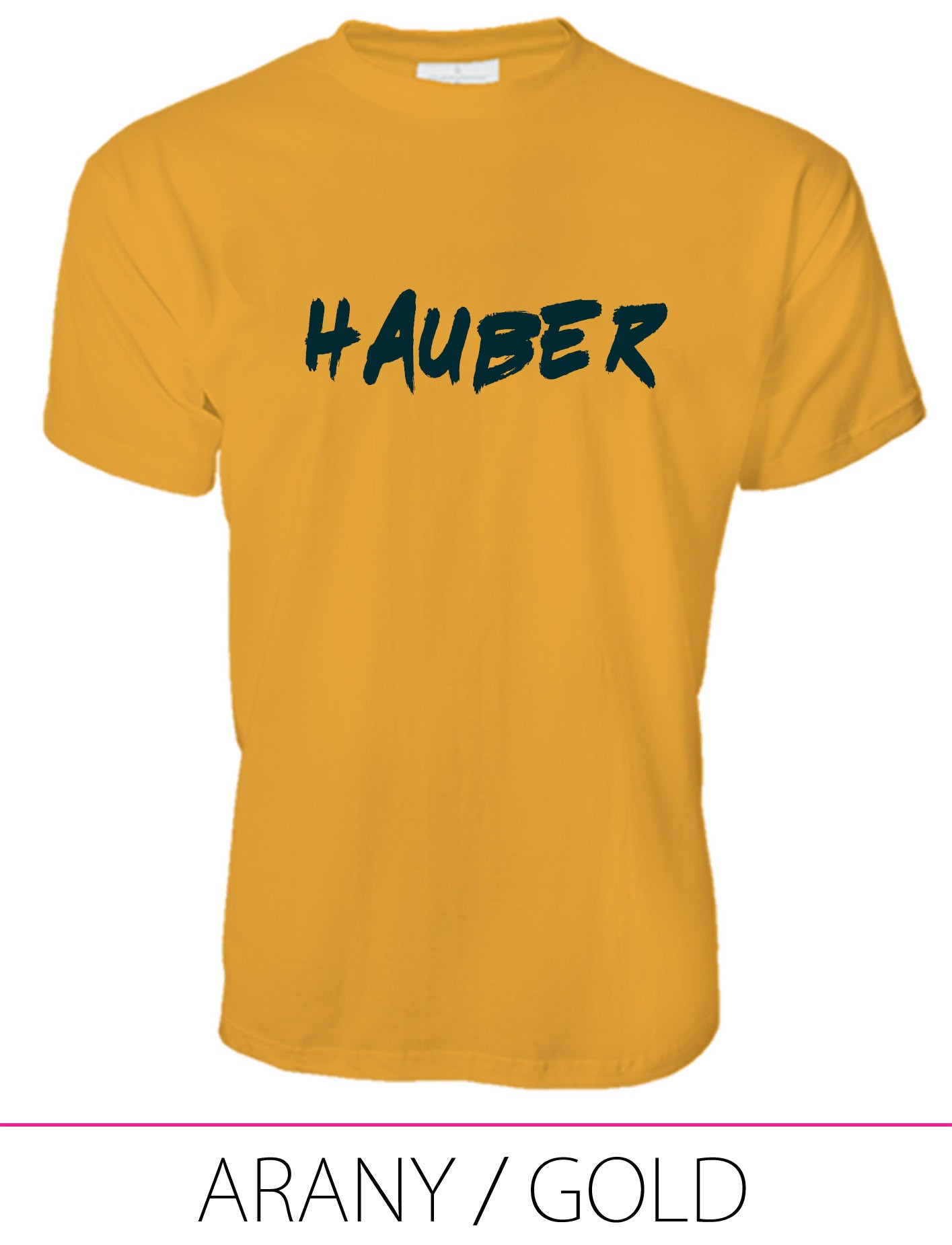 MEN PREMIUM CREW NECK T-SHIRT HAUBER GOLD
