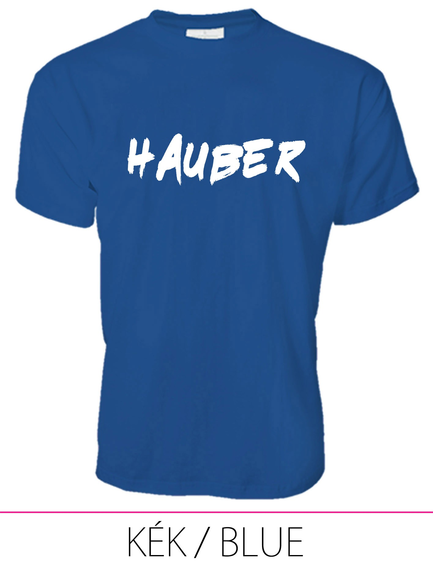 MEN PREMIUM CREW NECK T-SHIRT HAUBER BLUE
