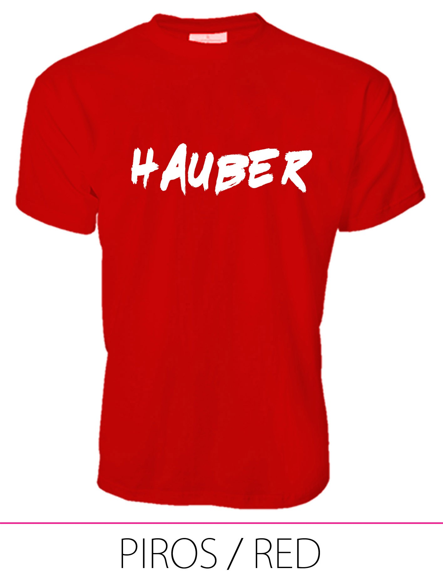 MEN PREMIUM CREW NECK T-SHIRT HAUBER RED