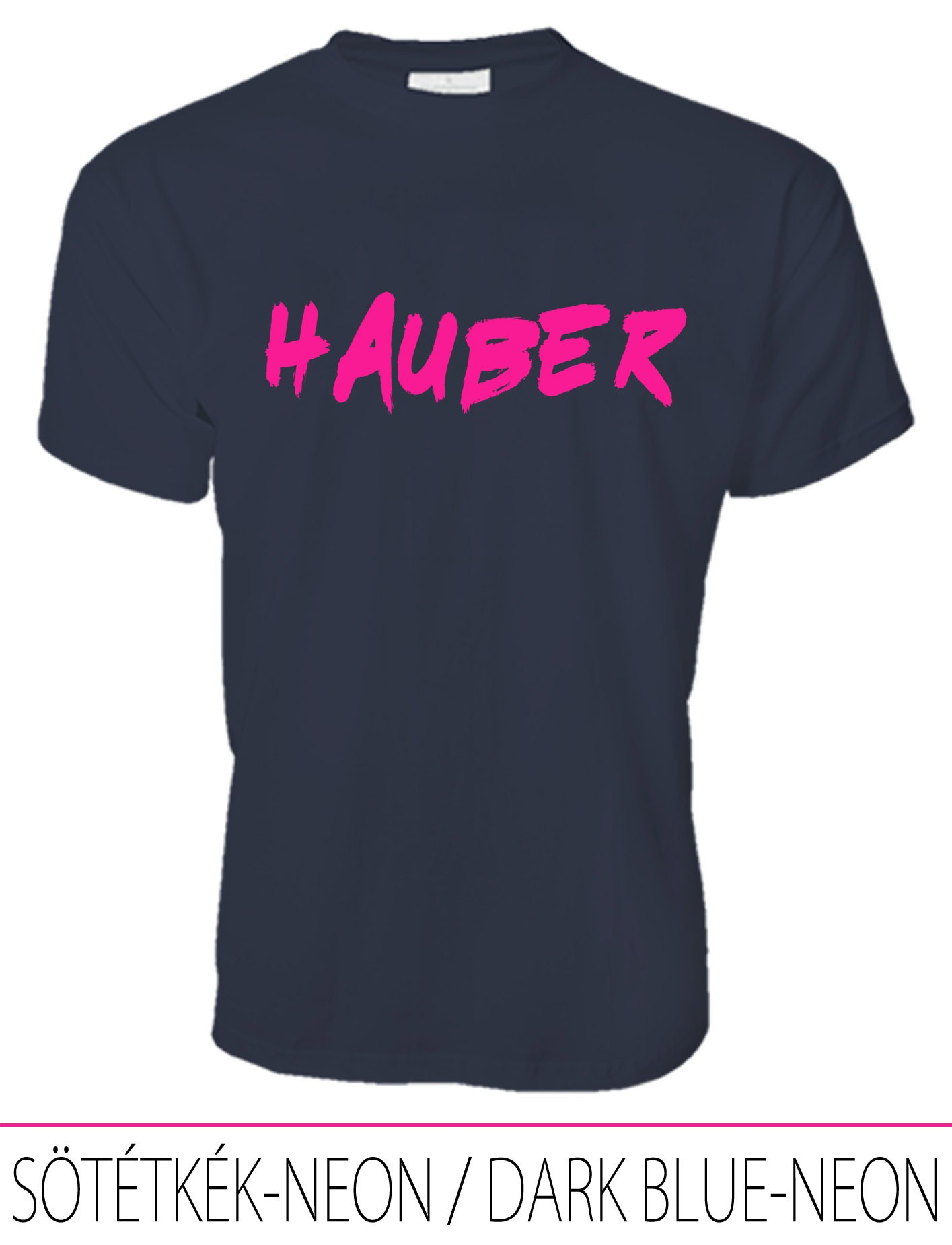 MEN PREMIUM CREW NECK T-SHIRT HAUBER DARK BLUE-NEON