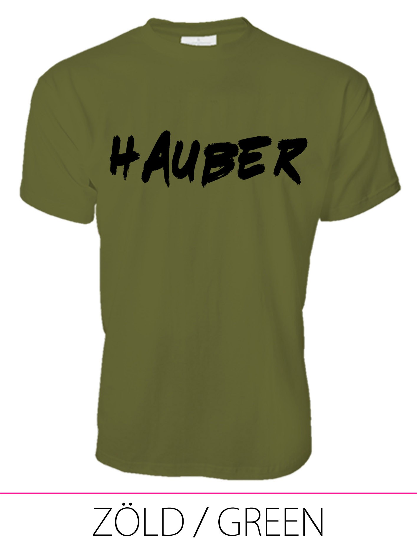 MEN PREMIUM CREW NECK T-SHIRT HAUBER GREEN