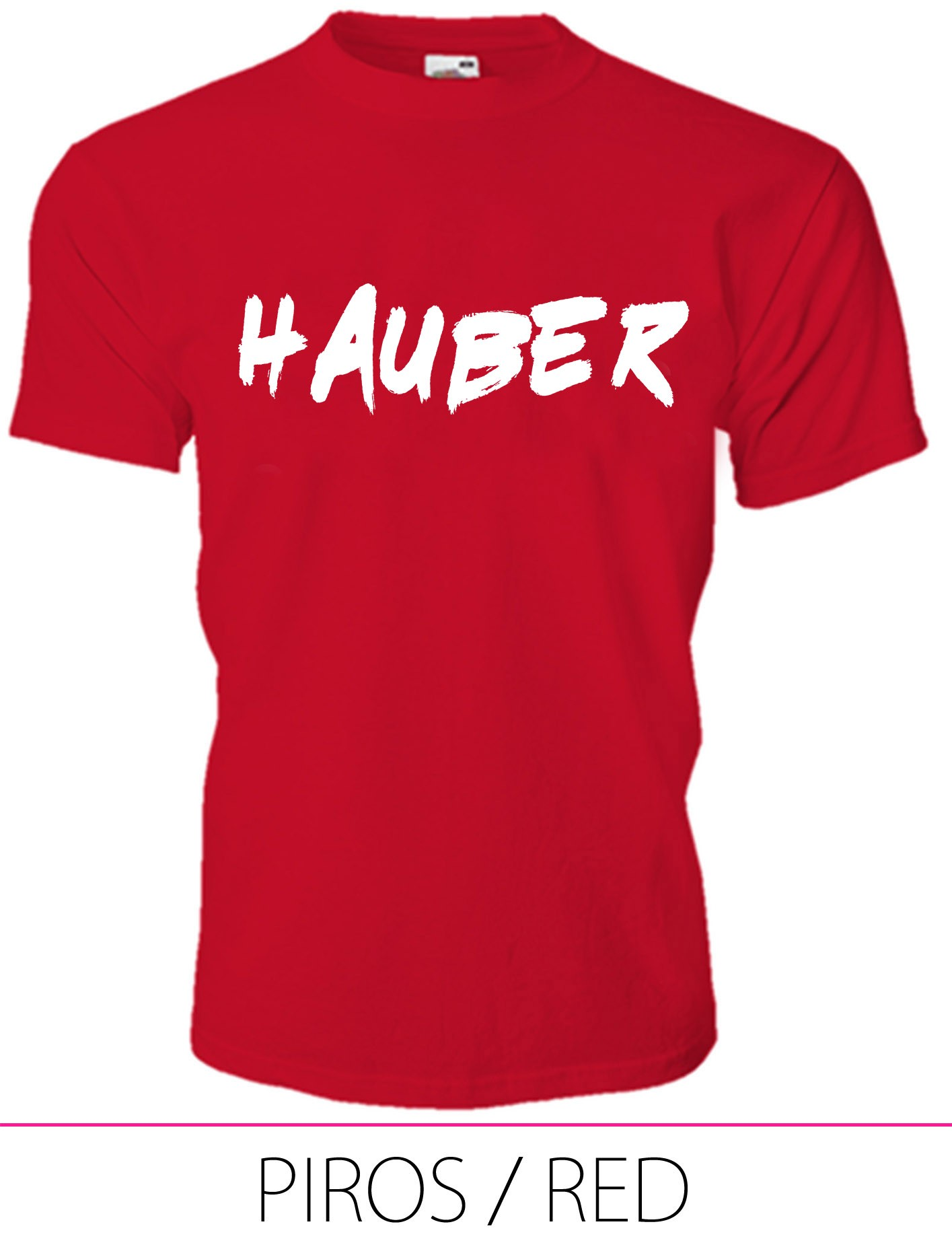 KIDS CREW NECK T-SHIRT HAUBER RED