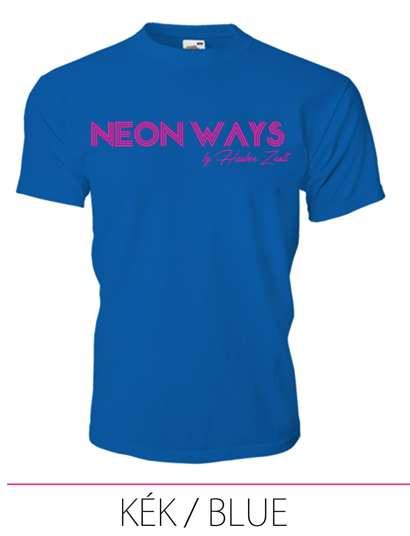 KIDS CREW NECK T-SHIRT NEON WAYS BLUE